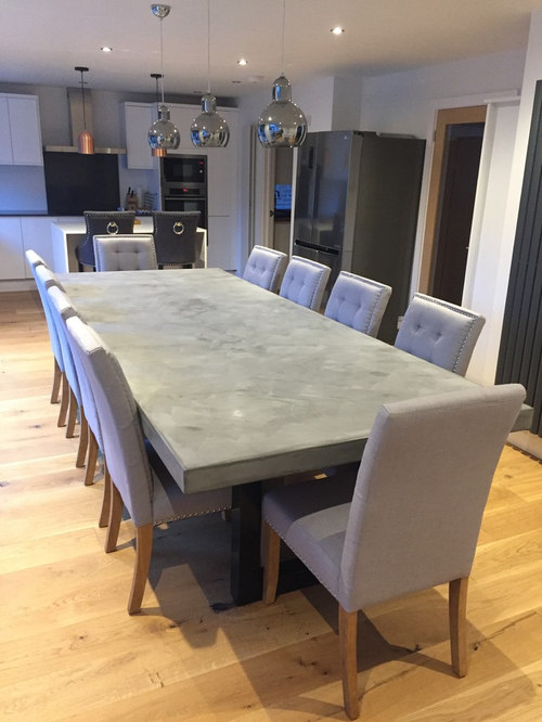 Polished Concrete Dining Table 3m x 1.2m - Products