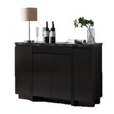 Faux Black Marble Top Buffet Table