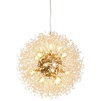 """16-Light Gold Plated Crystal Dandelion Chandelier, 24"""""""