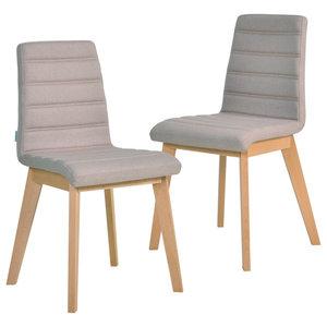 Nybro Chairs, Beige, Set of 2