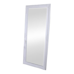 Large Ornate White Wall/Leaner Mirror 176cm x 76cm