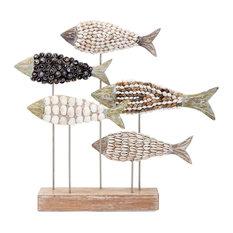 IMAX Worldwide Home - Imax Mahi Mosaic Shell Fish Statuary - Decorative Objects and Figurines