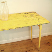 Antique Yellow Folding Table by goseek