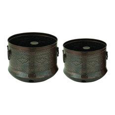 brimfield u0026 may metal hose holder 2piece set garden hose reels - Garden Hose Reels