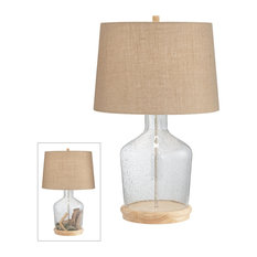 Pacific Coast Lighting Metal And Glass Table Lamp With Clear Finish 37M69
