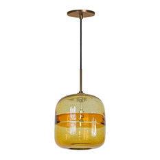 Light Line Voltage Pendant And Canopy, Amber Bronze