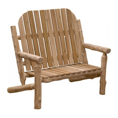 Rustic and Natural Cedar Two Person Adirondack Chair