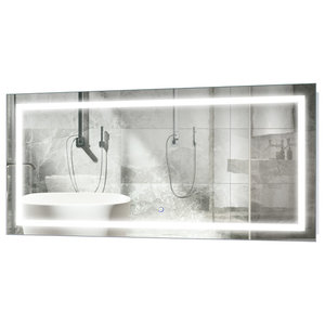 """Vanity Bathroom LED Lighted Mirror With Dimmer and Defogger, 48""""x24"""""""