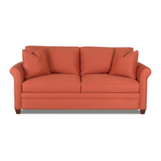 Good Savvy   Denver Queen Sleeper Sofa, Persimmon, Gel Memory Foam   Sleeper  Sofas