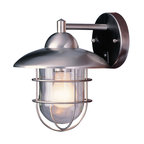 Cadiz 1 Light Outdoor Wall Light in Stainless Steel