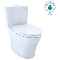 Toto Aquia IV Washlet 2P Elong 2-Flush 1.28 and 0.8GPF Toilet, Cotton White