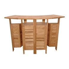 Grand Cayman Folding Bar Table, Grade A Teak