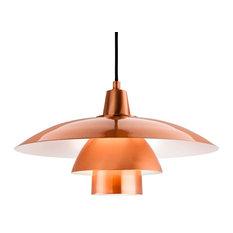 Olsen Pendant Light, Brushed Copper