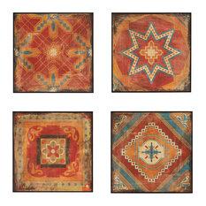 Madison Park 4-Piece Moroccan Tile Gel Coat Deco Box Set