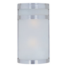 """Maxim 5002 Arc 12"""" 2 Light Wall Sconce - Stainless Steel"""