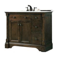 """Sink Vanity, Antique Coffee, 36"""""""