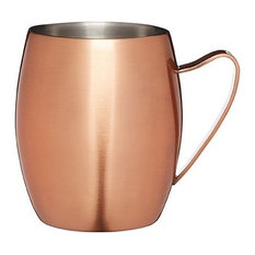 BarCraft Copper Finish Double Walled Moscow Mule Mug