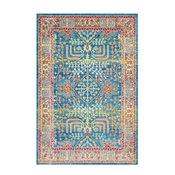 "Aura silk Updated Traditional Sky Blue, Bright Blue Area Rug, 7'10""x10'3"""