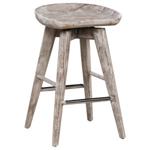 Astonishing Home Reagan Low Back Stool By Kosas Home Industrial Bar Caraccident5 Cool Chair Designs And Ideas Caraccident5Info