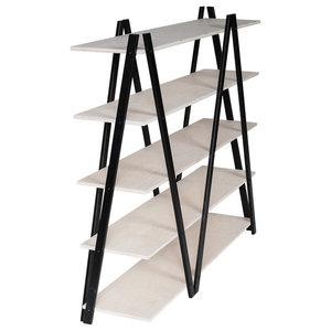 ZIG-ZAG Shelf, Black and White