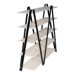 ZIG-ZAG Shelf, Black and White