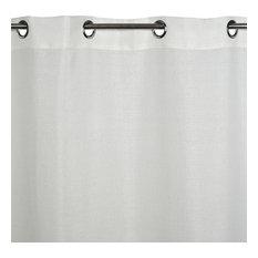 "Eyelet Sheer Curtain Cinnamon, Off-White, 57.1""x110.2"""
