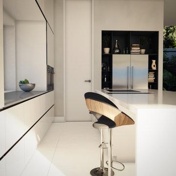 Neubau einer Bauhausstil Villa in Madrid - Planung