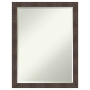 "Bathroom Mirror, Fits Standard 24-30"" Cabinet,Whiskey Brown Rustic, 20""x26"""