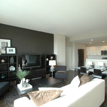 CamouflageTv with dark painted wall