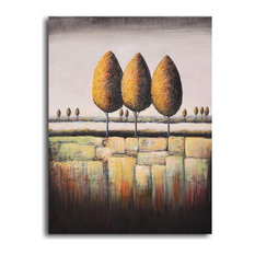 """Hand Painted """"Tree Trio"""" Oil Painting"""