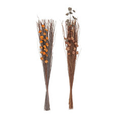 """Set of 2 Natural 45"""" Tall Dried Plant Bouquets"""