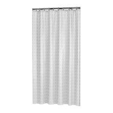 Quadretta Shower Curtain, White