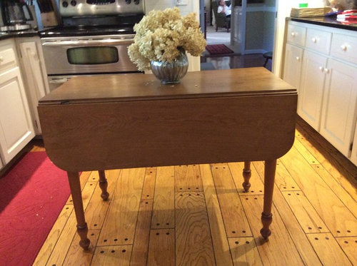 Bon I Want To Use This Drop Leaf Table As An Island In Kitchen