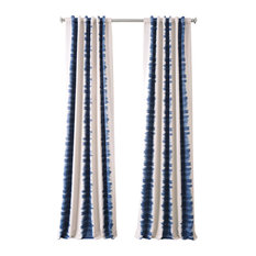 """Flambe Blue Blackout Curtain, Set of 2, 50""""x108"""""""