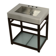 KVSP3122B5 31-inch Sink With Steel Console Sink Base Brushed/Oil Rubbed Bronze
