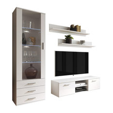 Soho 7 Modern Wall Unit Entertainment Center