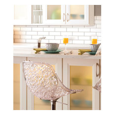 StickTILES White Subway Farmhouse Peel and Stick Tile Backslash, Set of 4