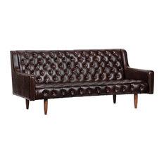 Noir Reynolds Tufted Walnut Sofa SOF264-3LEA