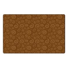 Swirl Tone-On-Tone Chocolate Rug, 7'6x12'