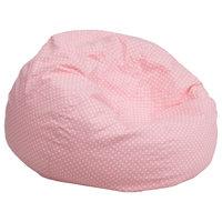MFO Small Light Pink Dot Kids Bean Bag Chair