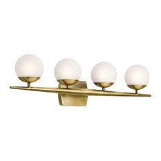 Jasper Bath 4-Light Halogen, Natural Brass