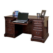 Martin Furniture Mount View Efficiency Double Pedestal Desk