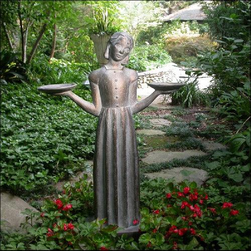 Savannah Bird Girl Outdoor Statue Sculpture   Garden Statues And Yard Art