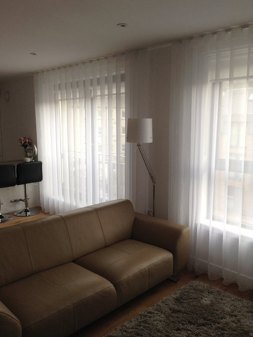 Silent Gliss 3840 tracks and Sheers made up with 80mm Wave - Curtain Poles