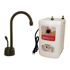 "Velosah Contemporary 9"" Hot Water Dispenser And Tank In Oil Rubbed Bronze"