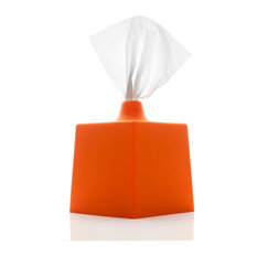 Tissue Box Cover, Orange
