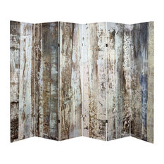 6' Tall Double Sided Winter Woods Canvas Room Divider