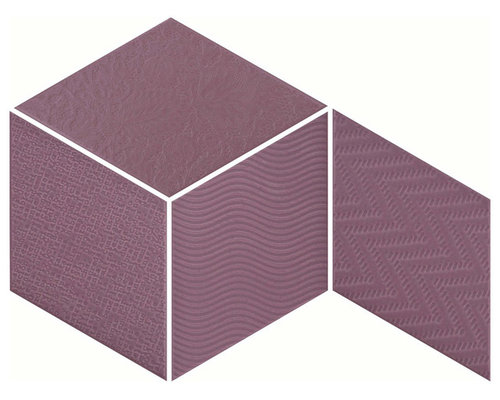 Rhombus Violet - Wall & Floor Tiles