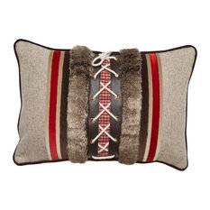 Tyrolean Beige and Red Cushion Cover