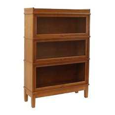 Hale Bookcases Direct   Hale Barrister Receeding Door Bookcase With Lock,  Light Walnut   Bookcases